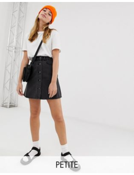 0afb33a5f Shoptagr | Noisy May Petite Button Front Denim Skirt by Noisy May