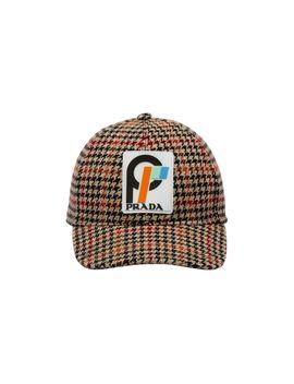 Houndstooth Wool Cap by Prada