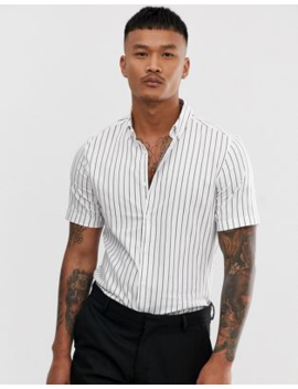 26d21d1d9 asos-design-skinny-fit-shirt-short-sleeve-shirt-
