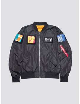 Playboy X Alpha L 2 B Flex Flight Jacket by Alpha Industries