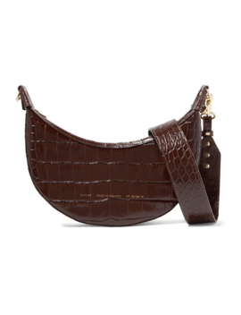 croissant-glossed-croc-effect-leather-shoulder-bag by chylak