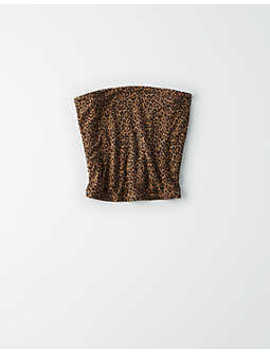 ae-animal-print-tube-top by american-eagle-outfitters