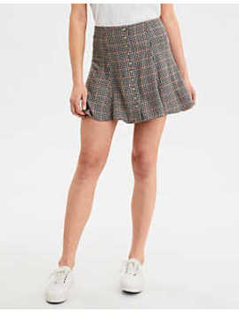 ae-plaid-button-down-midi-skirt by american-eagle-outfitters