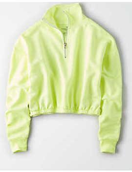 ae-studio-half-zip-sweatshirt by american-eagle-outfitters