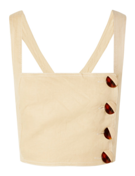 open-back-cropped-linen-top by nicholas