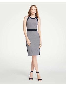 striped-halter-sheath-dress by ann-taylor