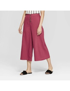 womens-button-front-wide-leg-palazzo-pants---who-what-wear by who-what-wear
