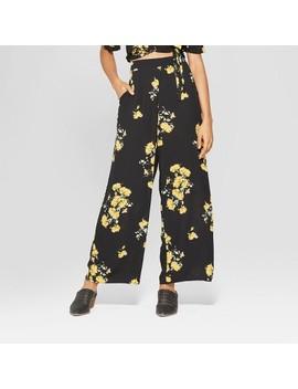 womens-floral-print-wide-leg-palazzo-pants---xhilaration-black by xhilaration-black