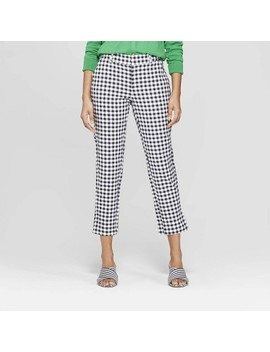 womens-plaid-straight-leg-slim-ankle-pants---a-new-day by a-new-day