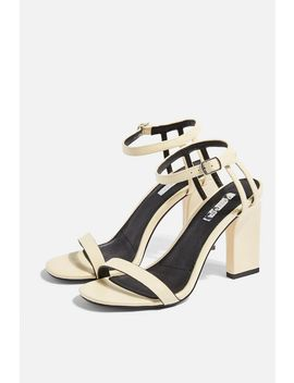 rolo-cream-strap-sandals by topshop