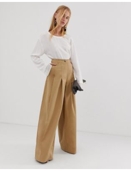 34625b03 Shoptagr | Asos Design Super Wide Leg Cargo Pant In Premium Cloth by ...