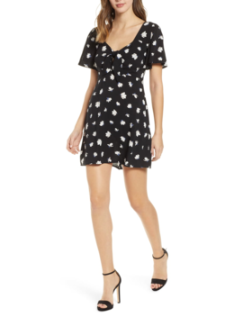 tie-front-minidress by all-in-favor
