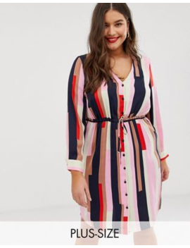 vero-moda-curve-tie-waist-geo-printed-dress by vero-moda