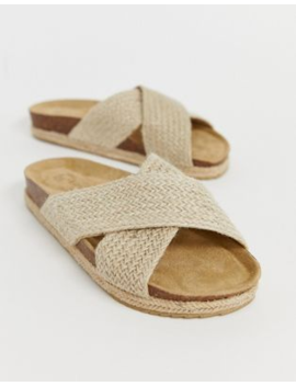 south-beach-exclusive-natural-woven-cross-over-slide-with-espadrille-soles by south-beach