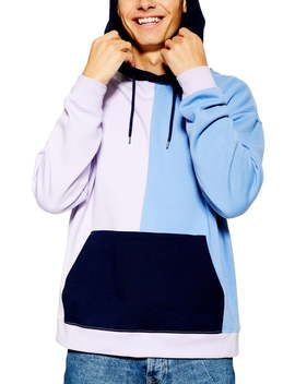 colorblock-panel-hoodie by topman