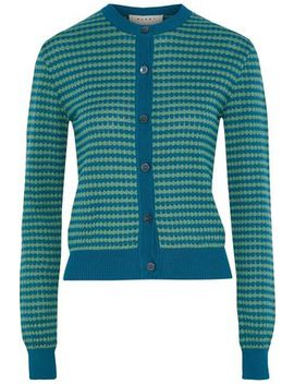 striped-crochet-knit-cotton-cardigan by marni