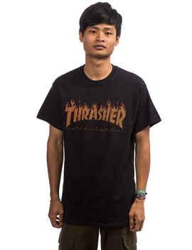 e9306de7 Shoptagr | Thrasher Flame Halftone T Shirt (Black) by Thrasher