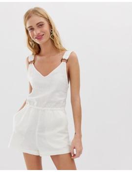 monki-linen-playsuit-in-off-white by monki