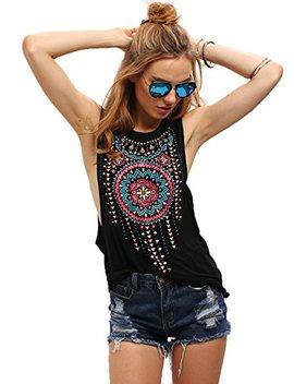 milumia-womens-sleeveless-vintage-print-tank-top-vest by milumia