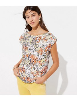 Garden Mixed Media Shoulder Button Top by Loft