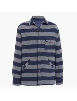 Blanket Stripe Shirt Jacket by J.Crew