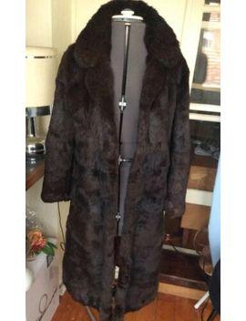 vintage-1970s-full-length-rabbit-lapin-fur-coat-size-6-8 by ebay-seller