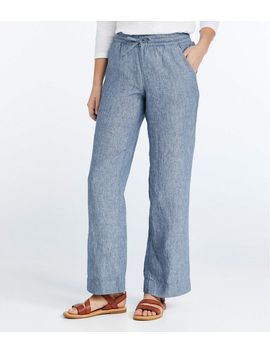 Premium Washable Linen Pull On Pants by L.L.Bean