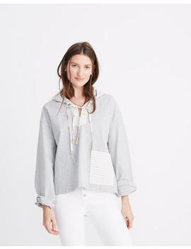 Madewell X The New Denim Project® Patchwork Popover Hoodie by Madewell