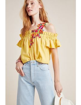 selena-embroidered-open-shoulder-blouse by mynah-designs