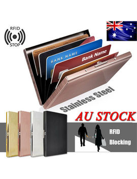 au-rfid-blocking-anti-scan-stainless-steel-credit-card-protector-wallet-holder by unbranded