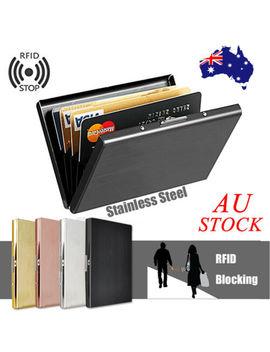 mens-stainless-steel-id-credit-card-rfid-blocking-safe-wallet-holder-metal-case by unbranded