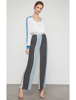 Striped Wide Leg Pant by Bcbgmaxazria