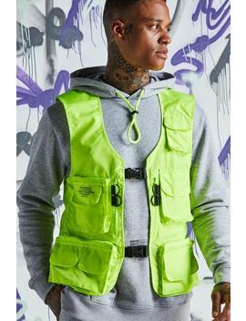quavo-nylon-military-buckle-vest by boohoo