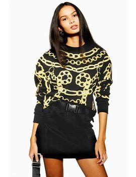 chain-sweatshirt by topshop