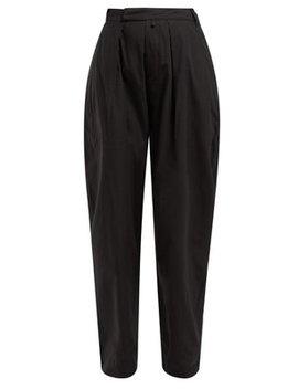 bonnie-high-rise-cotton-trousers by katharine-hamnett-london