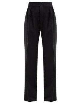 high-rise-wool-herringbone-trousers by saint-laurent