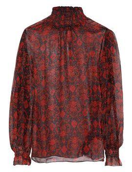 molly-shirred-printed-georgette-turtleneck-blouse by antik-batik