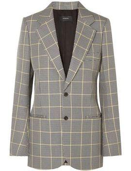 checked-cotton-jacquard-blazer by joseph