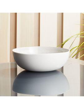Nico Cream Melamine Bowl by Crate&Barrel