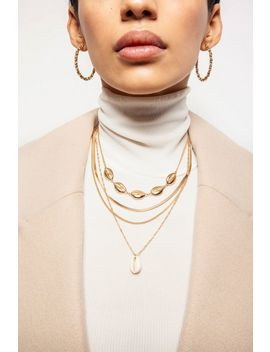**conchi-shell-layered-necklace by topshop