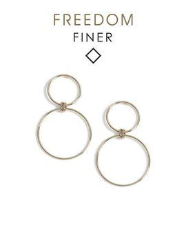 finer-circle-link-drop-earrings by topshop