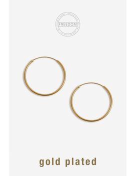 sterling-sliver-hoop-earrings by topshop