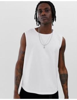 asos-design-cropped-vest-in-pique-in-white by asos-design