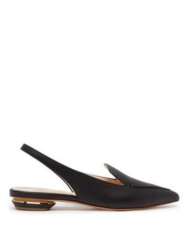 beya-slingback-grained-leather-loafers by nicholas-kirkwood