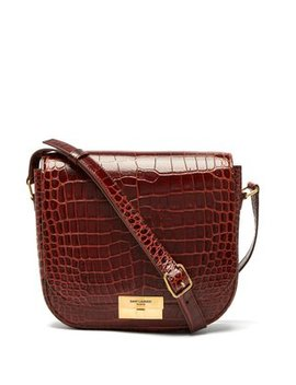 betty-crocodile-effect-leather-satchel by saint-laurent