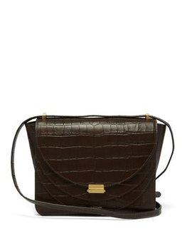 luna-crocodile-effect-leather-shoulder-bag by wandler