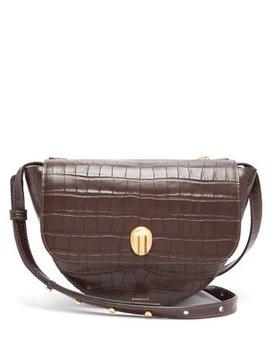 billy-crocodile-effect-leather-shoulder-bag by wandler