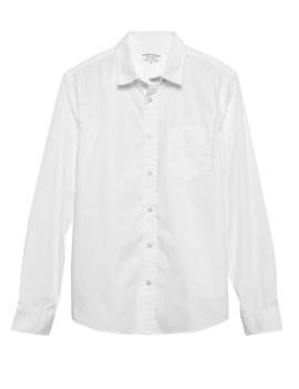 Untucked Slim Fit Luxe Poplin Shirt by Banana Repbulic