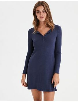 Ae Soft &Amp; Sexy Plush Henley Dress by American Eagle Outfitters