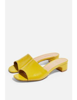 Diva Chartreuse Mules by Topshop